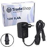 Trade-Shop Lavolta - Cargador para afeitadora Braun Series 1 170, 190, Series 3 300, 320, 330, 340, 350, 350CC, 360, 370, 370CC, 380, 390, 390CC (12 V, 0,4 A)