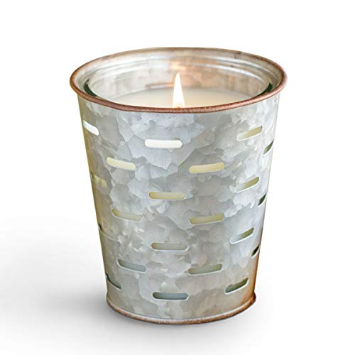 Park Hill Collection ENP10026 Back Porch Olive Bucket Candle, 12 oz
