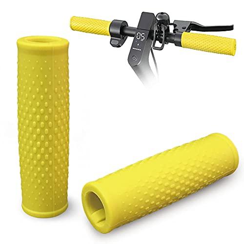 Baisirui Manillas de scooter, 1 par de empuñaduras de mango eléctrico para scooter eléctrico M365 1S Pro y Pro2 (amarillo)
