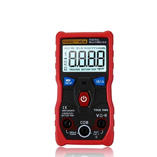 Multímetro de Electricista V02A Datos multímetro Digital Ncv LCD AC/DC voltímetro Auto de la Gama de frecuencia de diodos Resistencia capacitancia Tester para Pruebas eléctricas