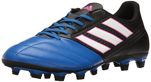 adidas Men's ACE 17.4 FxG Soccer Shoe, Black/White/Satellite, (9.5 M US)