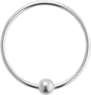 Prigioniero del branello Hoop naso anello dell'argento sterlina 925 naso anello penetrante