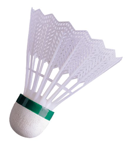 Solex Sports Badminton Bälle Advance 3er Set Federbälle mit Nylon Federn Füß Echt Kork mit Überzug weiß grün Geschwindigkeit langsam