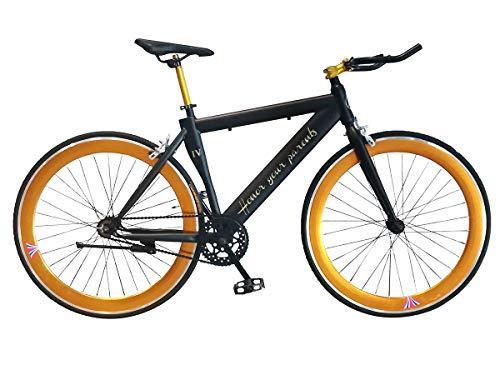 Helliot Bikes Fixie Nolita 50, Ruedas de 28 Pulgadas, Llantas de Aluminio, Cubiertas 700x23c Bicicleta para Ciudad, Unisex Adulto, Negra, Talla Única