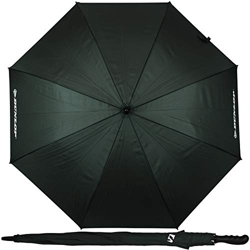 Dunlop XXL Paar Regenschirm 130cm mit Farbwahl Partnerschirm für 2 Personen Stockschirm Familienschirm Doppelregenschirm (Grün)