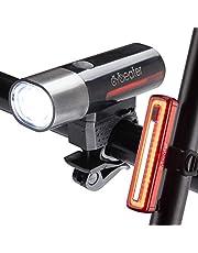 Cycleafer® Fietsverlichting set, USB oplaadbare fietsverlichting, Super KRACHTIGE lumen, Fietslichten set, LED fietsverlichting voor + GRATIS fietsverlichting achter, Mountain Zaklamp, Premium kwaliteit, module: aubX