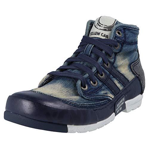Yellow Cab Herren Mud M Hohe Sneaker, Blau (Blue), 47 EU