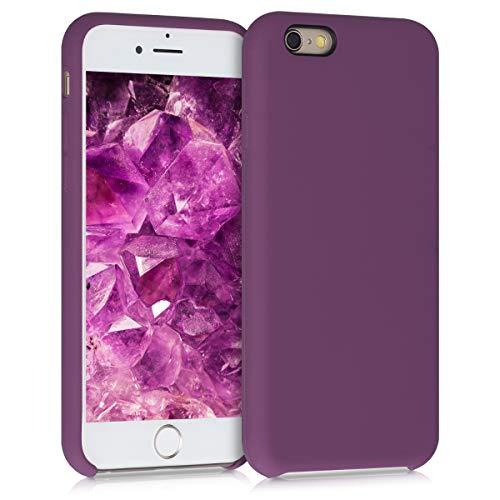 kwmobile Custodia Compatibile con Apple iPhone 6 / 6S - Cover in Silicone TPU - Back Case per Smartphone - Protezione Gommata Viola Magenta