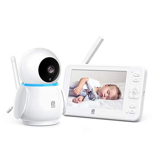 Babyphone mit Kamera,MTM 5 Zoll HD 1080P Smart Video Baby Monitor,Nachtsicht, 300M Reichweite, Zwei Wege Audio,3600 mAh Akku, VOX-Funktion,Videospeicherung und -wiedergabe