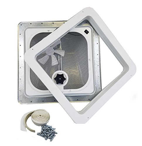 Ventline RV Roof Vent White w/ 12 Volt Fan, Putty & Screws