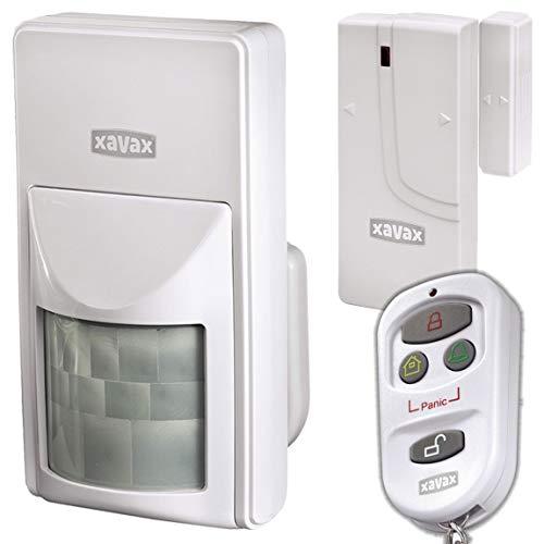 Xavax by Hama Erweiterungsset für Alarmsystem 'Feelsafe' inklusive 1 Fernbedienung (111978), 1 Fenster/Türalarm (111979) und 1 Bewegungssensor (111980)