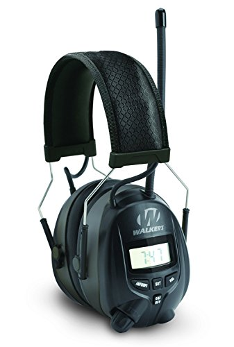 Walker's AM/FM Radio Muff with Digital Display, Black