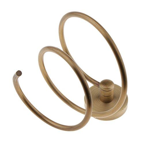 Sharplace Porte Mural Sèche-Cheveux en Acier Inox Support Séchoir à Cheveux pour Rangement Salle de Bain - 13.5x10 cm