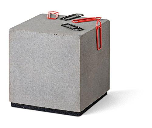 """Magnetischer """"Block"""" aus Beton - Büroklammernhalter"""