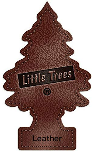 LITTLE TREES Car Air Freshener   Hanging Paper Tree for Home or Car   Leather   12 Pack
