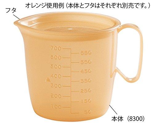 信濃化学工業8-8627-03流動食コップ850mL用フタオレンジ