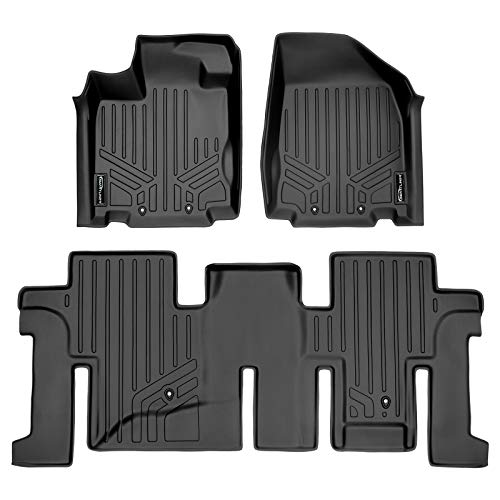 2013 2014 - Black Rubber 2016 Made in USA 2018 3rd Row Compatible with Nissan Pathfinder 2015 ToughPRO Floor Mats 1st 2019 Heavy Duty - 2017 All Weather 2nd
