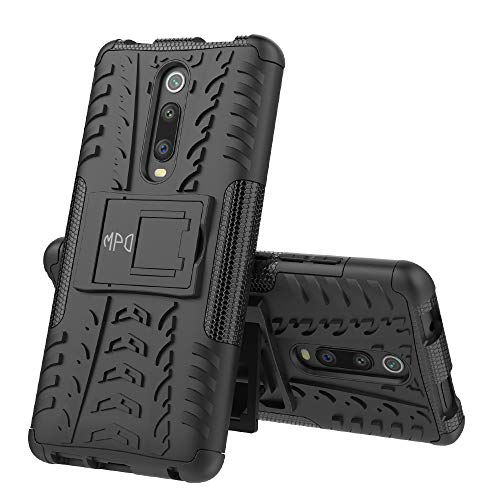 Max Power Digital Funda para Xiaomi Redmi Note 8 Pro con Soporte Heavy Duty Híbrida 2 en 1 Carcasa Dura Resistente Antigolpes (Xiaomi Redmi Note 8 Pro, Negro)