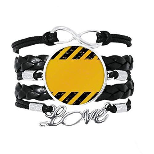 OFFbb-USA Logo tiras negras y amarillas para coche, correa de línea de liderazgo, accesorio de amor, cuerda de tejer trenzada, regalo