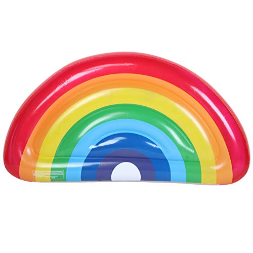 Tiffasha Anillo de natación - Accesorio de Cama de Fila Flotante de Anillo de natación Inflable de Agua Colorida para Adultos