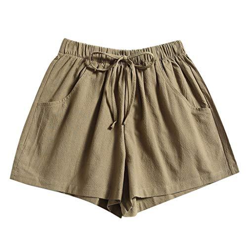 Yowablo Damen Shorts Badepants Sweatshorts Sport Shorts Trainingsshorts Kurze Jogginghose Boxer Shorts Kurze Hose Boxershorts Bermudas Sunbrief (M,3Armeegrün)