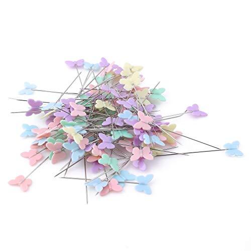 100 Patchwork-Pads, flach, bunt, Knopfkopf, DIY, Quilting-Werkzeug, Nähzubehör, Schmetterlingsform, 1 nützlich und praktisch