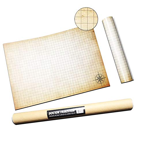 Dungeon Grid Game Mat | IMPRESCINDIBLE accesorio para Juegos de Rol -