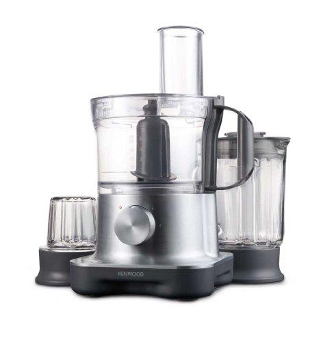 Kenwood Multipro Compact FPM260 Kompakt-Küchenmaschine, 750 W, 2,1 l Arbeitsbehälter, 1,2 l Glas-Mixaufsatz