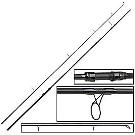 FOX EOS Pro Canne à pêche à la carpe 10 ft 3,5 lb pour la pêche à la carpe, canne à pêche pour la bouillette, canne à…