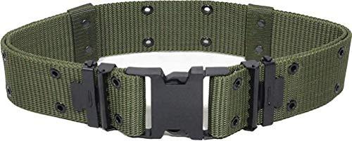 Mil-Tec Cinturón de Orificio Ajustable de EE.UU, LC2, con Cierre de Clip (Oliv/L)