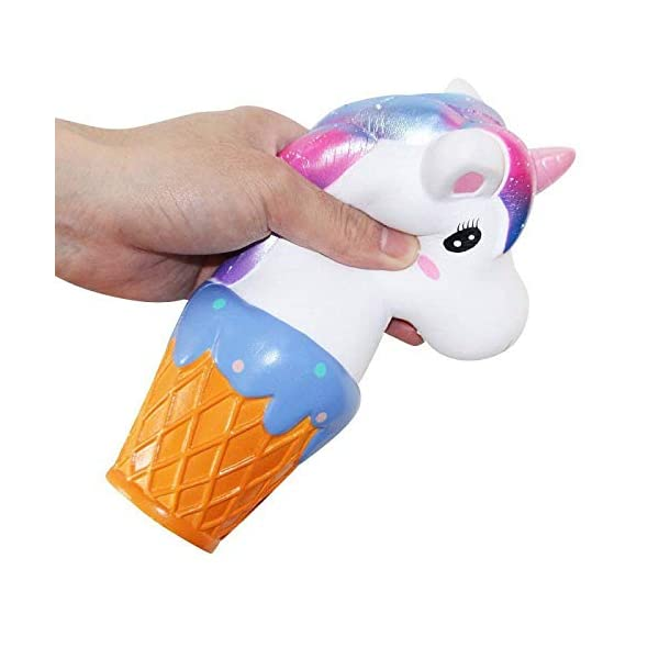 YXJC Fun Toys Squishies, Unicorn ice Cream Squishy, Creamy Aroma Slow Rising Squeeze Toys for Stress Relief (Color : Starry Sky) 3