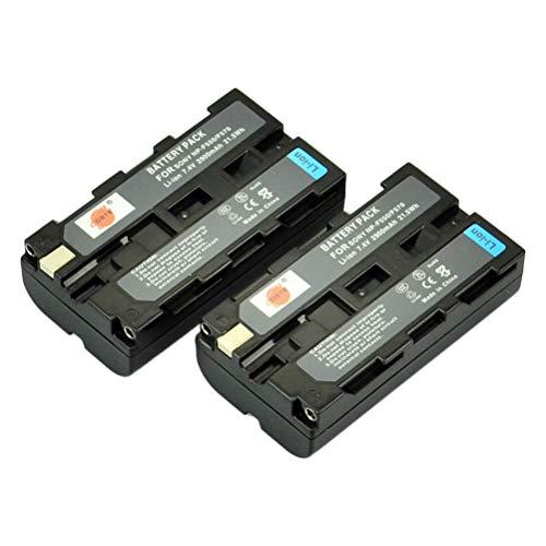 DSTE 2-Pieza Repuesto Batería Compatible con Sony NP-F550 NP-F330 NP-F530 NP-F570 CCD-SC55 DCR-VX2100 DCR-VX2100 DCR-VX2100E DCR-VX700 MVC-FD100 MVC-FD200 MVC-FD5 MVC-FD51 MVC-FD7 MVC-FD88 MVC-FD90