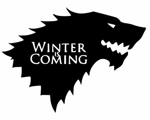 Winter is Coming Game of Thrones Decal Vinyl Sticker Cars Trucks Vans Walls Laptop  Black  5.5 x 4 in CCI1340