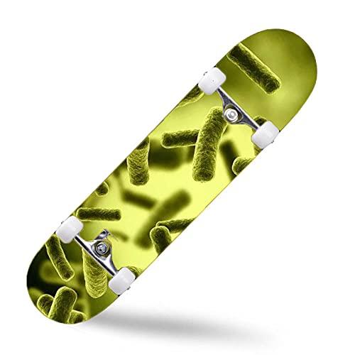 ZASX Tabla Completa de Skate de 31 x 8 Pulgadas, con rodamientos de Bolas ABEC-7,BaciloMadera de Arce de 8 Capas Adecuada para niños, Adolescentes y Adultos, con un Peso de 150 kg.