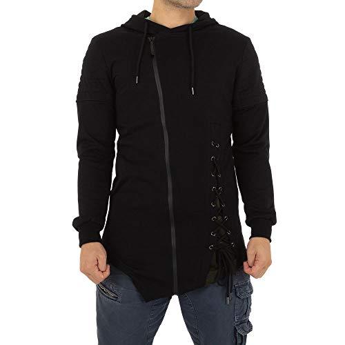 Ital-Design ASYMMETRISCHE Sweatjacke Enos Jeans Gr. S Schwarz