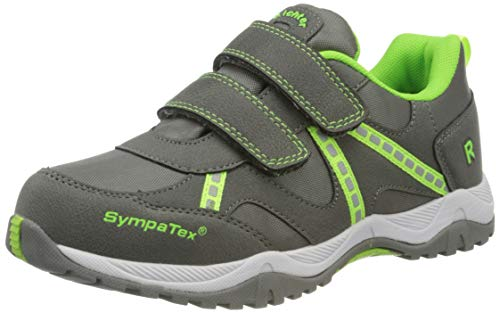 Richter Kinderschuhe Jungen Future1 Sneaker, Grau (Ash/N.Green 6301), 28 EU