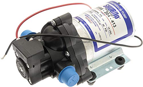 Shurflo Wasserpumpe für Wohnmobil, 7 Liter, 12 V, 20 PSI, ohne Anschlüsse, 2095-204-112