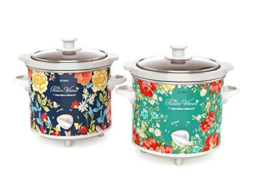 Pioneer Woman 1.5 Quart Slow Cooker (Set of 2) Fiona Floral/Vintage Floral | Model# 33016 by Hamilton Beach (2)