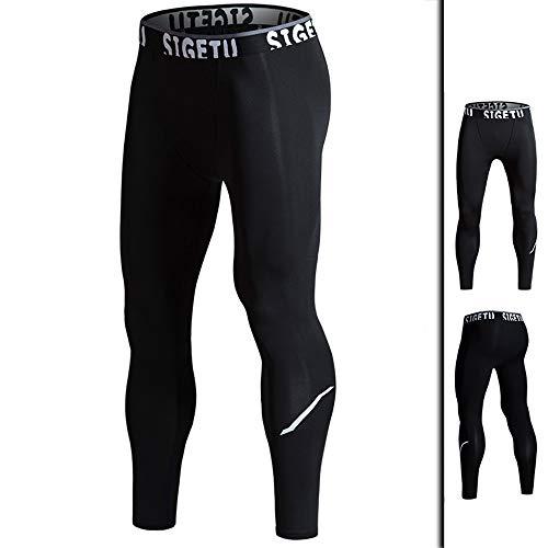 High Elastic Basketball Compressie Leggings Quick Dry Mens Compression Leggings Plus Size 3XL Heren Running Tights joggingbroek,XL