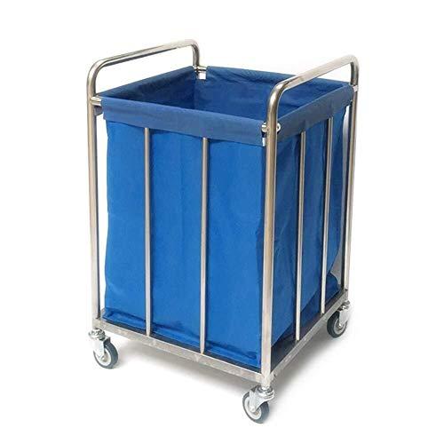 LONGJUAN-C alimentos Hospital de tranvía, Material médico bastidor, carro médico Heavy Duty hotel lino carrito con ruedas, azul balanceo servicio de habitaciones Servicio de lavandería Clasificador de