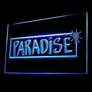 170082 Tropical Paradise Bar Beach Tiki Party Display LED Light Sign