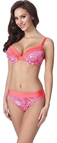 Merry Style Damen Push Up Bikini F21 (Muster-310, Cup 75A / Unterteil 38)
