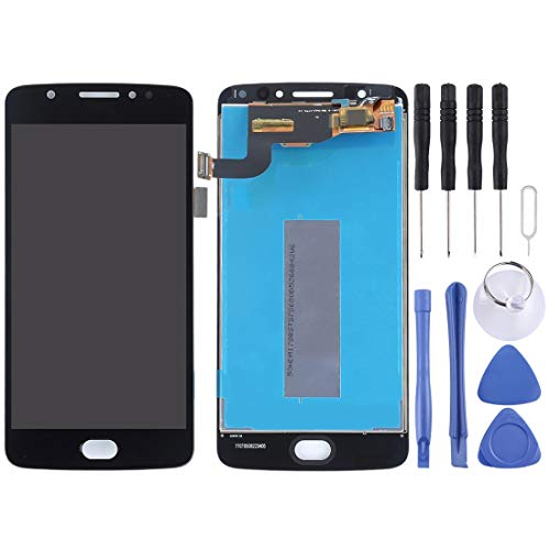 Schermo LCD Motorola per Motorola Moto E4 XT1763 XT1762 XT1772 LCD Screen e Digitizer Assembly Completo (Nero) (Colore : Black)
