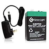 GLI Lithium-ion Deep Cycle Rechargeable Battery – 6v 4.5Ah IP54 Extreme Weather Resistant – up to 4,000 Cycles, Long-Life – for Solar, Scooters, Wheelchairs – Includes Charger