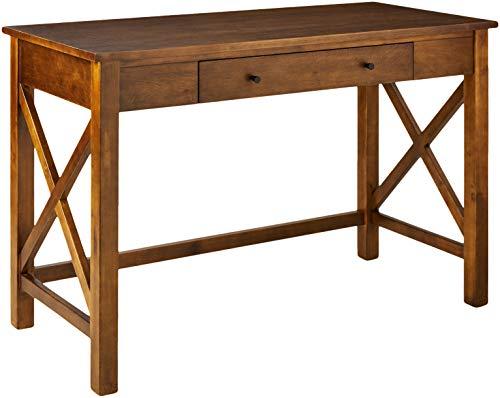 Amazon Brand – Ravenna Home Classic Two-Drawer Desk, 44'W, Walnut