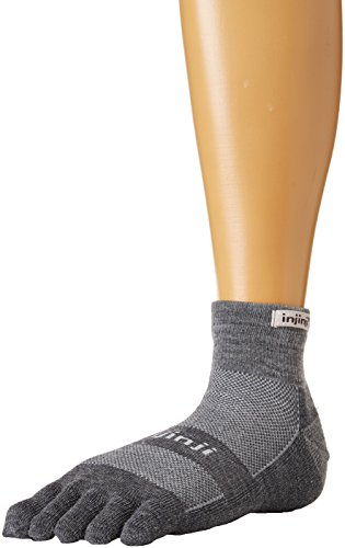 Injinji - 2.0 Outdoor Midweight Mini Crew Nuwwol - Chaussettes - Mixte - Multicolore (Charcoal/Black) - Taille: M