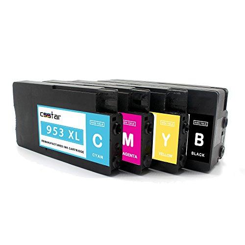 CSSTAR Pack de 4 Compatible Cartuchos de Tinta Reemplazo para HP 953XL 953 XL Multipack para OfficeJet Pro 7720 7740 8210 8710 8715 8720 Impresora - Negro, Cian, Magenta, Amarillo
