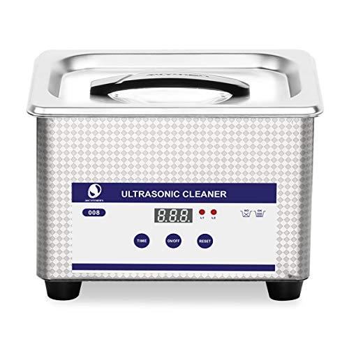 SKYMEN Limpiador Ultrasonidos Profesional 800ML Limpiador Gafas Ultrasonico con Función de Tiempo Ajustable 0-30Munitos, Limpieza por ultrasonidos Dental Joyería Relojes Monedas