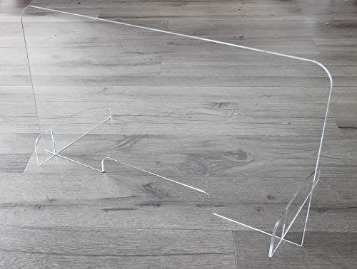 Original Thekenaufsatz Hustenschutz aus Plexiglas mit Standfüßen, kompakt & leicht, geeignet als Thekenaufsteller Spuckschutz Niesschutz Virenschutz Hustenschutz - 40 x 80cm (HxB) - Made in Austria