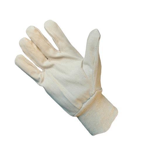 Lightweight 8oz Cotton Drill Work Gloves - Pack 12 Pairs